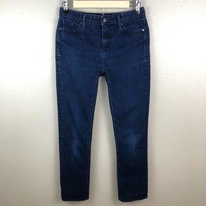 Gap Dark Blue Real Straight Midrise Jeans